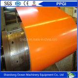 Bobine en acier enduite d'une première couche de peinture de Gi/tôle acier galvanisée enduite par couleur de PPGI/PPGL dans la bobine
