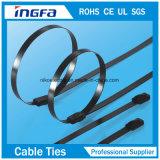 Bola de acero inoxidable que bloquea las ataduras de cables