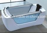 STAZIONE TERMALE indipendente della vasca da bagno di massaggio di rettangolo di 1800mm con il vetro del Entrambi-Lato (AT-LW0785)