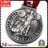 Medalla barata del metal del deporte del levantamiento de pesas de China con insignia de encargo