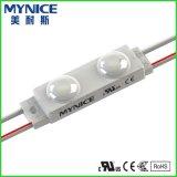 módulo del rectángulo ligero LED de la muestra 12V con el blanco caliente 5050