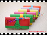 Бумажники муфты PU длинние плоские для женщин