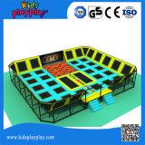 China-Lieferanten-Trampoline-Handelsplastikgefäß-Spielplatz-Trampoline-Park-Federelement-Sprung-Trampoline
