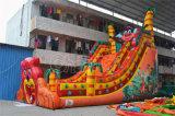 Diapositiva inflable del PVC de la diapositiva del león grande de la boca del deslumbramiento para los niños