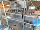 Máquina de embotellado automática del agua de la bomba de pistón de la goma de la salsa de la mantequilla de cacahuete