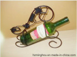 Suporte creativo e popular do vinho do frasco do metal um