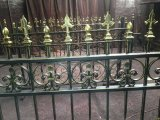 Загородка стали металла загородки ковки чугуна декоративного сбор винограда стальная