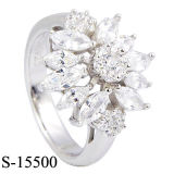 De imitatie Ringen van CZ van de Trouwring van Juwelen Echte Zilveren