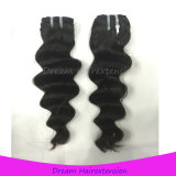 Weave волос девственницы надкожицы человеческие волосы девственницы перуанского свободные глубокие