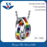 虹の方法円形のステンレス鋼のペンダント