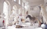 Европейский тип ангел и конструкция животных 3D для картины украшения на панели стены