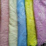 Ткань жаккарда для платьев в желтом цвете