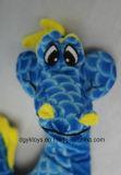 Blaues gelbes weiches angefülltes Seedrache-Floppyspielzeug