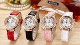 Relojes resistentes de la marca de fábrica de agua de la correa de la joyería de las mujeres de señora reloj