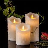 タイマーおよび10キーのリモートが付いている破損の波整形Flameless LEDの蝋燭
