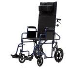 Manueller, stützender Stahlstuhl, faltender Rollstuhl (YJ-011L)