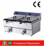 Sartén eléctrica con la válvula para la máquina del alimento con el Ce (WF-172V)