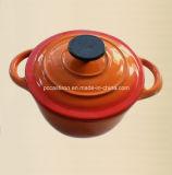 Cookware verde del ghisa con la fabbrica della Cina di rifinitura dello smalto