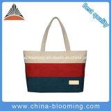 Dame-kaufenhandtaschen passten preiswerten Baumwollstreifen-Segeltuch-Strandtote-Beutel an