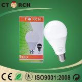 セリウムのRoHS ULの承認のプラスチックおよびAlumunumボディが付いているCtorch屋内LED A80 15Wのランプ