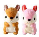 연약한 귀여운 다람쥐 견면 벨벳 동물성 장난감