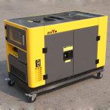 Début d'Electirc d'usine d'OEM de bison (Chine) BS12000t 10kw 10kVA Portable diesel silencieux portatif du générateur 10kVA de garantie de 1 an