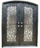低価格と複式記入Secutryの鉄のドアデザイン