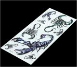 Etiqueta engomada temporal impermeable del tatuaje del tótem del escorpión