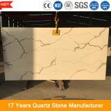 Lastra artificiale resistente della pietra del quarzo dell'oro di Calacatta della graffiatura