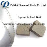 Segmento di pietra di taglio sinterizzato materiale del diamante per la lamierina d'acciaio in bianco