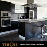 現代ホーム木の家具の台所収納キャビネット(AP038)