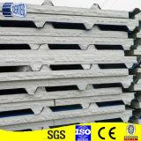 Голубой цвет Prepainted гальванизированная стальная панель пены EPS для крыши