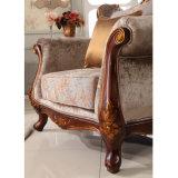 Sofá do grupo no estilo clássico com cadeira Love Seat e Mesa Redonda