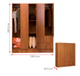 Guardarropa de madera laminado melamina del MFC (HX-DR1323)