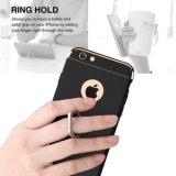 Caixa do suporte do anel de 360 graus, 3 em 1 tampa luxuosa protetora dura do caso do anel do carrinho do anel de Kickstand do PC superior ultra fino para o iPhone 6/6s/7/7 positivos
