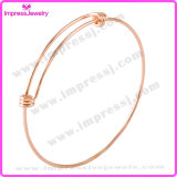 Edelstahl 1.5mm Simple ein Triple Loop Adjustable Wiring Bangle