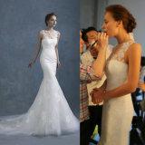 工場販売の高品質のレースのストラップレスのカスタム結婚式の花嫁の服