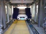 A máquina da lavagem de carro do túnel com roda escova a arruela do carro