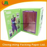 Papel de Calidad Superior caja de regalo con la ventana clara del PVC