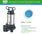 Bombas de água submersíveis de águas residuais de 1.1kw de aço inoxidável com rotor de corte para água suja