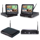 sistema de grabación sin hilos de la seguridad de la cámara del IP de 4CH WiFi CCTV para el Built-in de la seguridad casera pantalla del LCD de 10 pulgadas