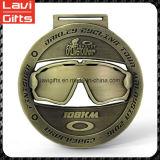 Medalla de encargo 3D de la fábrica con el metal