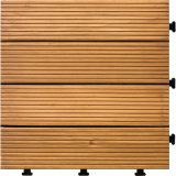 Mattonelle di pavimento di legno dure della piattaforma della base di plastica del certificato del Ce