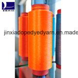 DTY 50d/36fドープ塗料によって染められるポリエステルマイクロフィラメントヤーンの織り目加工のゴム
