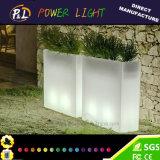 Les meubles extérieurs décoratifs imperméabilisent le bac lumineux de plastique de DEL