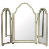 Античный серебряный Triptych одевая зеркало и среднее зеркало можно опрокинуть