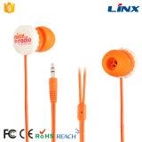 Fone de ouvido forte da luz 3.5mm da cor da boa fixação do preço relativa à promoção