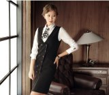 Fabriqué à la mesure de la mode élégant Ladies Long Vest Double Breasted Vest L51638