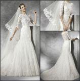 Мантия Ya0112 шнурка втулок платья венчания 3/4 Mermaid Bridal