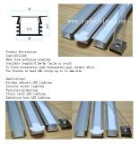 Extrusion en aluminium pour le profil en aluminium en plastique opale de Coverd DEL de Module de cuisine avec des montures de clips annexes